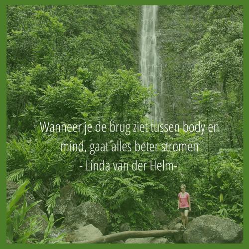 Wanneer je de brug ziet tussen body en mind, gaat alles beter stromen - Linda van der Helm-